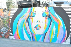 Bondi beach graffiti art