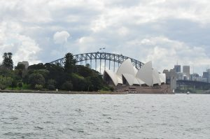 Another angle of the Opera House seen at the Royal Botanical Garden